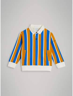 Burberry Striped Cotton Jersey Rugby Shirt