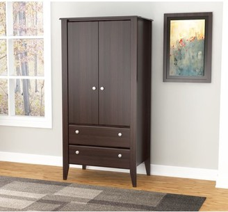 Inval Modern Espresso Two Door Two Drawer Wardrobe/Armoire