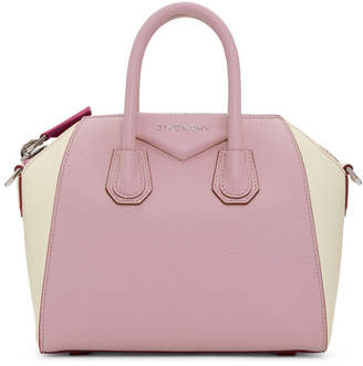 Givenchy Pink and Off-White Mini Antigona Bag
