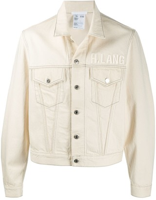 Helmut Lang embroidered logo denim jacket