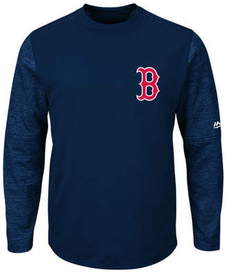 Majestic Men's Boston Red Sox Ac On-Field Tech Fleece Pullover