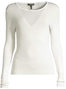 Escada Sneta Honeycomb Ribbed Sweater
