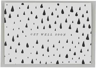 Artcadia - Letterpress Get Well Soon Greetings Card