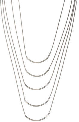 A.N.A Silver-Tone Multi-Row Necklace