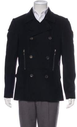 Ted Baker Wool Double-Breasted Peacoat