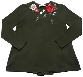 MonnaLisa Roses Patch Cotton Jersey T-Shirt