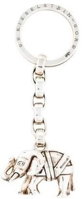 Kieselstein-Cord Sterling Silver Elephant Pendant Key Chain