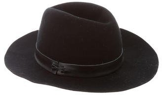 Hat Attack Leather-Trimmed Wool Fedora $80 thestylecure.com
