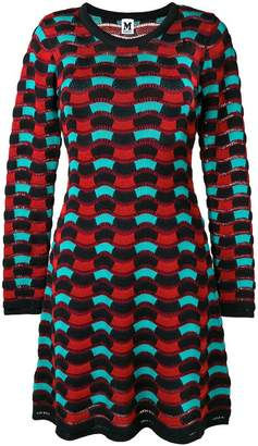 M Missoni wave knit sweater dress