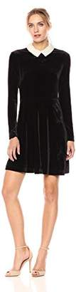 Betsey Johnson Women's Long Sleeve Velvet Pearl Dress