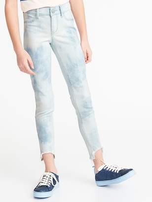 1ab8e71e32b52 Old Navy Ballerina Acid-Wash Step-Hem Jeggings for Girls