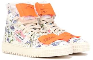Off-White Floral leather sneakers