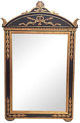 One Kings Lane Vintage Carved Giltwood & Painted Italian Mirror - Von Meyer Ltd.