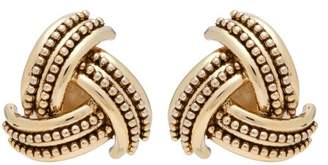 Etro Gold Tone Clip On Earrings - Womens - Gold
