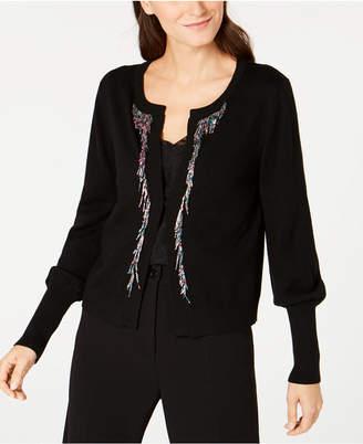 Nanette Lepore Bead-Embellished Cardigan