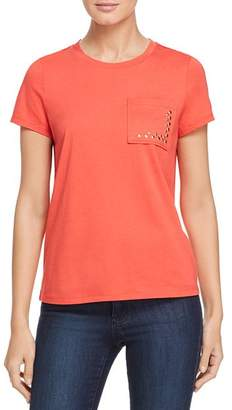 DKNY Embellished Pocket Tee