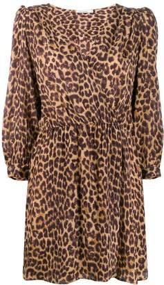 Mes Demoiselles panther print wrap dress