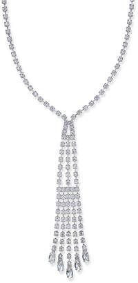 Nina Silver-Tone Crystal Y-Necklace