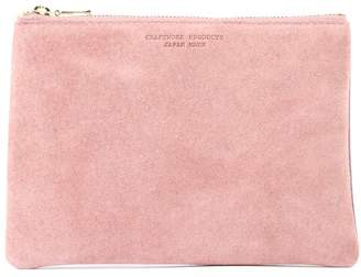 Arenot (アーノット) - アーノット スエード フラットポーチ M スモーキーピンク/ラベンダー(SUEDE FLAT POUCH M smoky pink/lavender)