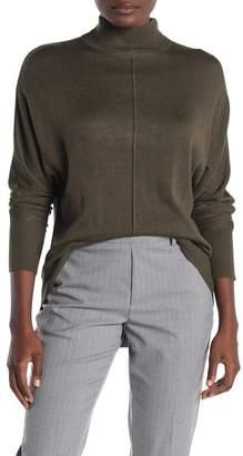 Magaschoni M Mock Neck Dolman Sleeve Center Seam Sweater