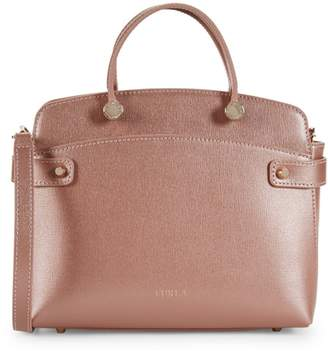 Furla Agata Metallic Leather Satchel