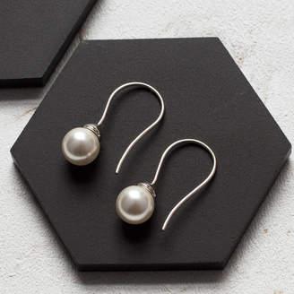 At Notonthehighstreet Claudette Worters Pearl Drop Sterling Silver Earring