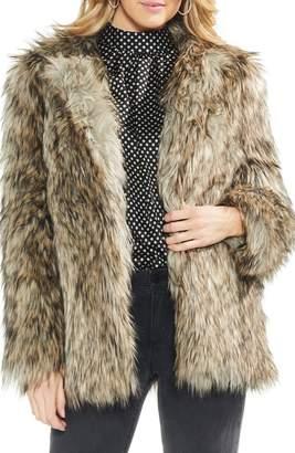 Vince Camuto Faux Fur Kiss Front Jacket