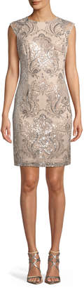 LM Collection Sequin Lace Sheath Dress