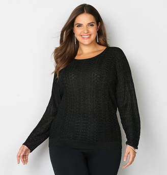 Avenue Metallic Dolman Sweater
