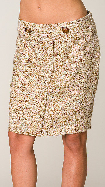 Tracy Reese Vanilla/Camel Pegged Skirt