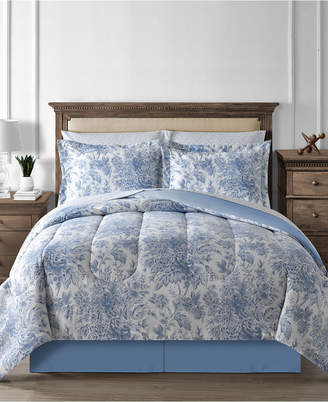Fairfield Square Collection Floral Toile 8-Pc. King Reversible Comforter Set Bedding