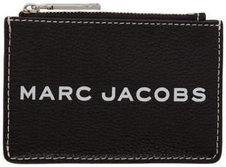 Marc Jacobs Black Textured Tag Top-Zip Multi Wallet