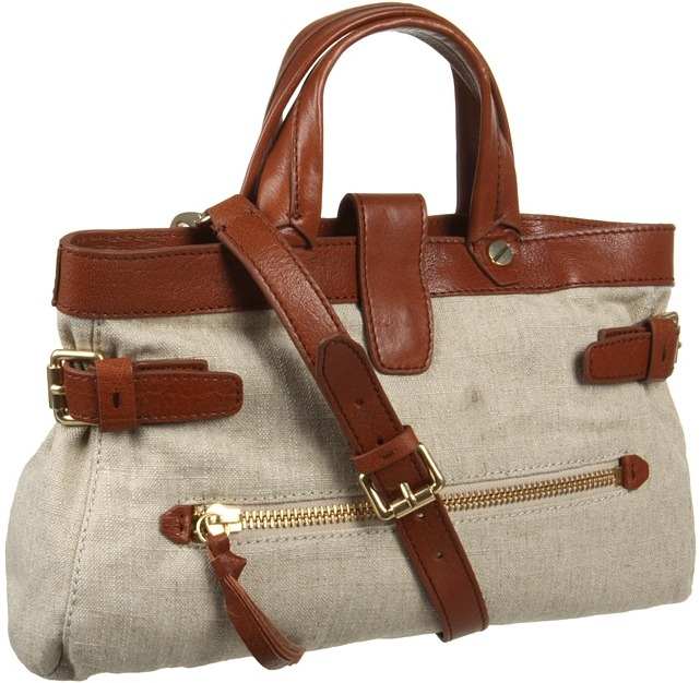 Foley + Corinna Buckled Satchel (Linen/Brown) - Bags and Luggage