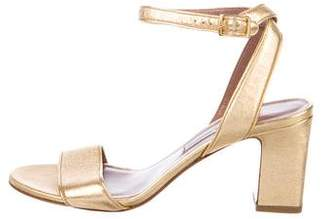 Tabitha Simmons Metallic Leather Ankle Strap Sandals