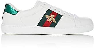 Gucci Men's New Ace Leather Sneakers - White