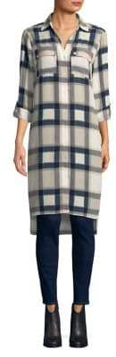 Jones New York Plaid Button-Down Tunic