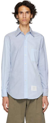 Thom Browne Blue Funmix Classic Point Collar Shirt