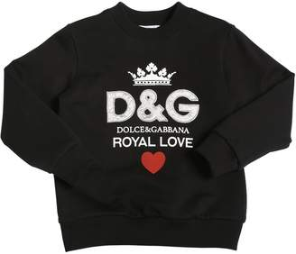 Dolce & Gabbana Patch Logo Cotton Sweatshirt