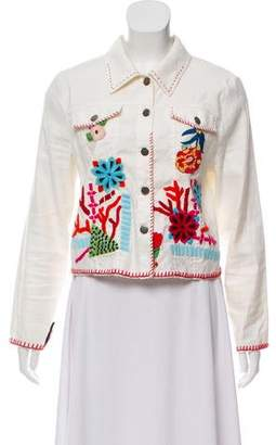 Ramy Brook Embroidered Button Up Jacket