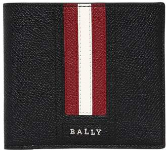 Bally Striped Saffiano Leather Classic Wallet