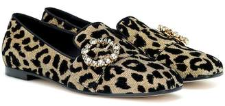 Dolce & Gabbana Crystal-embellished loafers
