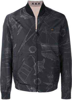 Ermenegildo Zegna XXX all-over print bomber jacket