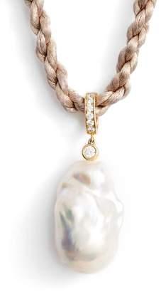 Nina Baroque Freshwater Pearl & Cubic Zirconia Pendant Necklace