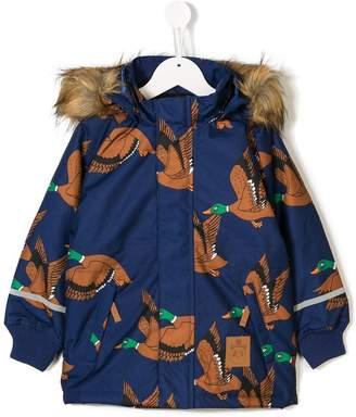 Mini Rodini duck print parka coat