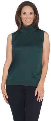 Lisa Rinna Collection Mixed Media Turtleneck