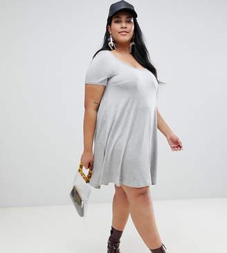 Brave Soul Plus swing dress with keyhole back