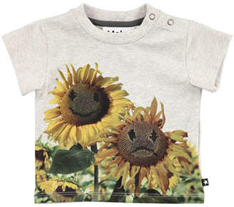 Molo Emilio Sunflower Short-Sleeve T-Shirt, Size 6-24 Months