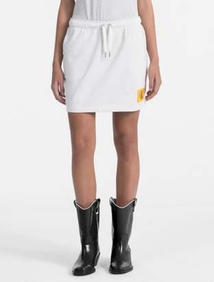 Calvin Klein jersey mini skirt