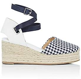 Rag & Bone Women's Kea Gingham & Leather Espadrille Sandals-Navy