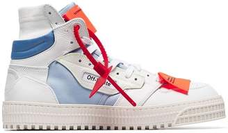 Off-White white leather high-top sneakers
